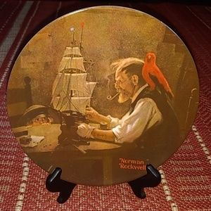 Norman Rockwell Collector Plate with holder